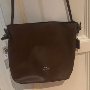 NWT super cute Coach brown shoulder bag!